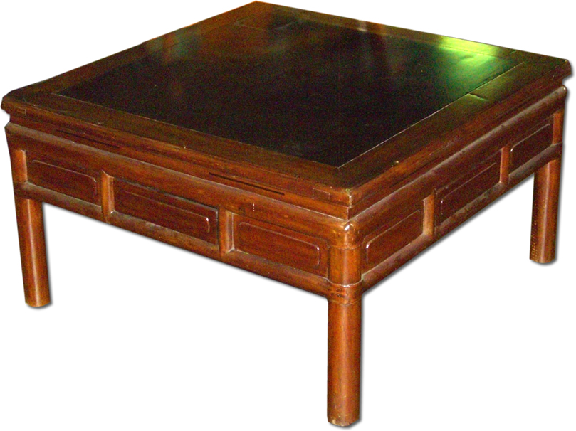Antique Chinese Low Square Coffee Table Zitan